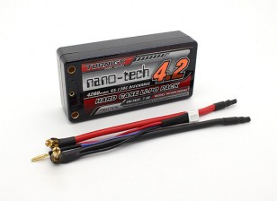 Turnigy nano-tecnologia Baixinho 4200mAh 2S2P 65 ~ 130C Hardcase Lipo Pack (ROAR aprovado)