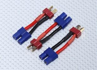 T-Connector para EC3 adaptador de bateria (3pcs / saco)