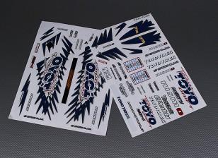 Folha de Auto-adesivo Decal - Toyo 1/10 Scale