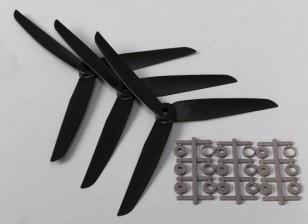 Hobbyking ™ 3 pás da hélice 7x3.5 Preto (CCW) (3pcs)