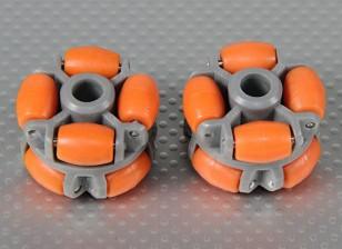 Omni Roda 40x28mm Plástico (2Pcs / Bag)