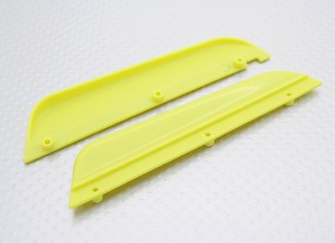 Esquerda Mud Guard / Direita 1/16 Turnigy 4WD Nitro Corrida Buggy (amarelo)