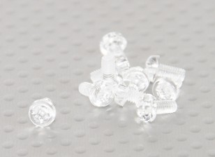 Parafusos policarbonato transparente M3x6mm - 10pcs / bag