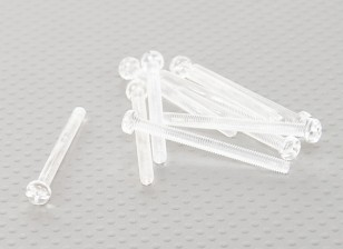 Parafusos policarbonato transparente M4x45mm - 10pcs / bag