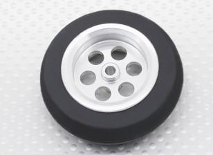 Turnigy Scale Jet Alloy 54 milímetros roda w / Rubber Tire