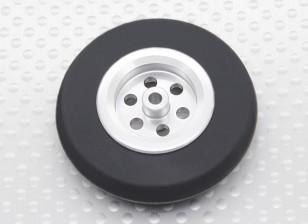 Turnigy Scale Jet Alloy Roda Fina w / Rubber Tire (45 mm)