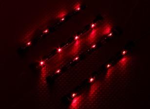 7 Modo RC Car System chassis Iluminação (vermelho)