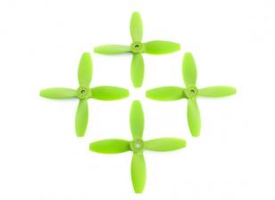 Lumenier FPV Corrida Hélices 4040 4-Blade Green (CW / CCW) (2 pares)