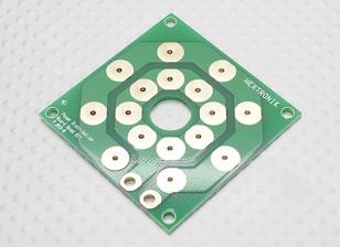 Placa de distribuição Hobbyking Multi-potência rotor (DIY 8 x PCB saída)