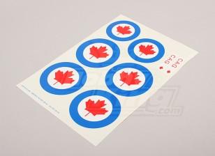 Escala da folha Força Aérea Nacional Insignia Decal - Canadá