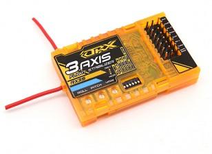 OrangeRX RX3S 3-Axis vôo Estabilizador w / DSM2 Compatível 2.4Ghz receptor 6CH