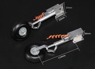 Turnigy Full Metal Servoless Retracts com pés Oleo (Hawker Hurricance tipo)