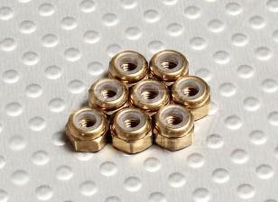Cor titânio alumínio anodizado M3 Nylock Nuts (8pcs)
