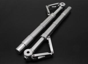 Turnigy 60 ~ 90 tamanho Alloy Sprung Oleo Strut com Trailing Link (140 milímetros) 2pc