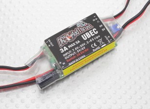 Dr. Mad Thrust série 3A BEC com Inbuilt Aux controlada On / Off Switch para Acessórios