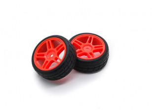 HobbyKing 1/10 roda / pneu Set VTC Estrela Raio (vermelho) RC 26 milímetros carro (2pcs)