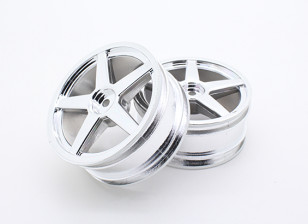Nitro tóxico - Roda cromada dianteira