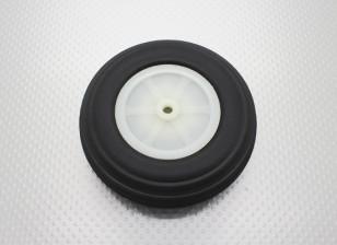 "3,75 ""Roda Ultra /95.3mm Escala Luz borracha PU"