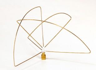 Circular polarizada 900MHz transmissor Antena (RP-SMA) (LHCP) (Short)