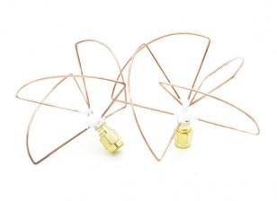 2.4GHz Circular polarizada antena RP-SMA (Set) (Short)