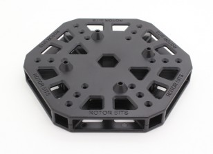 RotorBits HexCopter Centro de montagem (Black)