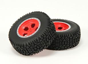 Roda / Insert / Tire Set (2) - Basher Nitro circus1 / 10 SCT