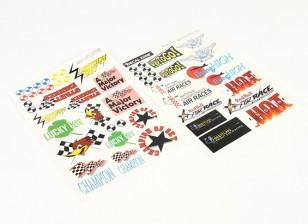 Nose Art - Vários estilos autoadesivo 205 x 300 milímetros Sheets (2pc)