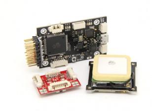 HobbyKing HKPilot mega Mini Combo controlador de vôo GPS e módulo de alimentação