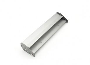 1/10 Escala de alumínio Traseira Duplo asa ajustável (Gunmetal) 168 x 40 mm