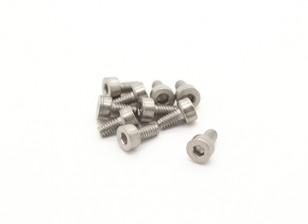 Titanium M2 x 4 Sockethead Hex Parafuso (10pcs / saco)