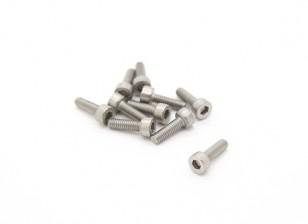 M2.5 Titanium x 8 Sockethead Hex Parafuso (10pcs / saco)