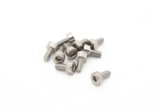 Titanium M3 x 6 Sockethead Hex Parafuso (10pcs / saco)