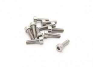 Titanium M3 x 10 Sockethead Hex Parafuso (10pcs / saco)