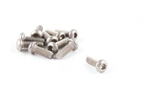 Titanium M2 x 6 Bottonhead Hex Parafuso (10pcs / saco)
