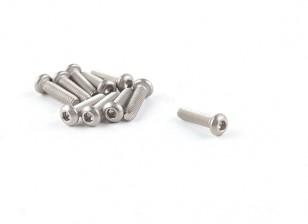 Titanium M2 x 8 Bottonhead Hex Parafuso (10pcs / saco)