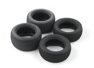 Da frente e do pneu traseiro set (4pcs) - BSR Corrida BZ-222 1/10 2WD Corrida