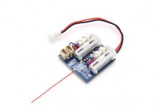 2.4Ghz sistemas Supermicro - DSM2 receptor compatível w / escovado ESC, Linear Servos