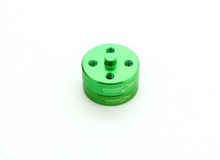 CNC Alumínio Quick Release auto-aperto Prop Adaptadores Set - Verde (sentido horário)