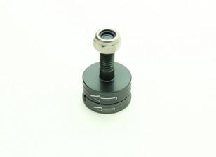 CNC alumínio M6 Quick Release auto-aperto Prop Adapter Set - Titanium (anti-horário)