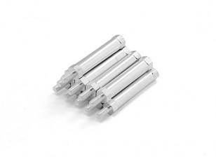 end leve redonda de alumínio Seção Spacer Com Stud M3 x 30 milímetros (10pcs / set)