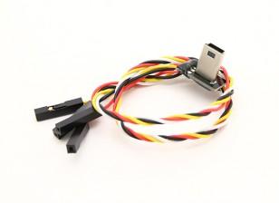 Mobius USB para saída AV cabo FPV com carregamento
