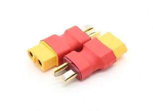 T-Connector para liderar XT60 adaptador de bateria (2pc)