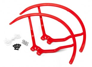9 Inch Plastic Universal Multi-Rotor hélice Guard - Red (2set)