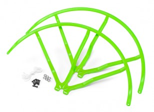 10 Inch Plastic Universal Multi-Rotor hélice Guard - Green (2set)