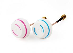 5.8GHz Circular polarizada Antena Set-transmissor e receptor (RP-SMA)