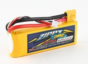 ZIPPY Compact 2200mAh 2s 60c Lipo pacote