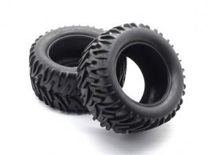 Front / Rear Tire Set - 1/10 Quanum Vandal XL 4WD Corrida Buggy (2pcs)