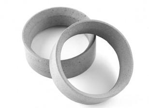 Equipe Sorex 24 milímetros moldado pneu inserções tipo C Média (2pcs)