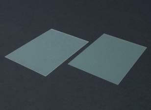 Folha FR4 Epoxy Vidro 210 x 148 x 0,8 milímetros (2pc)