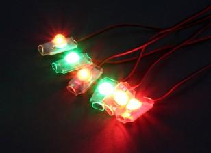 Turnigy Super Bright 4 x Red / 2 x verde LED Set Luz com alarme de Baixa Tensão